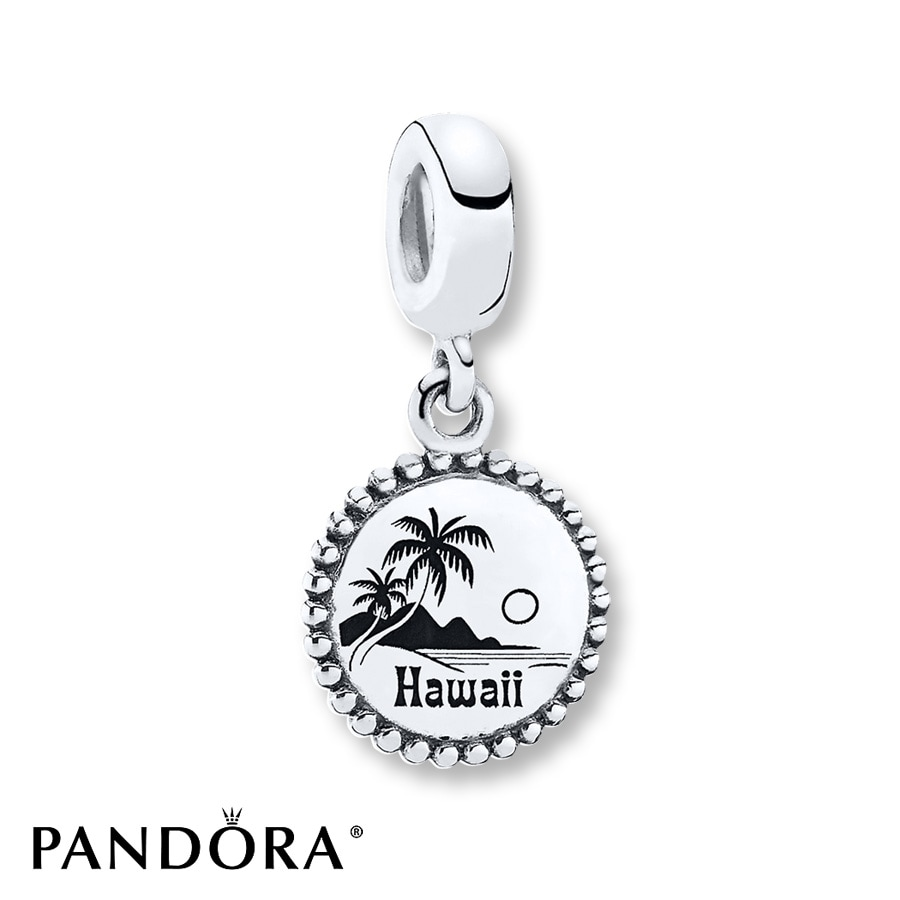 Jared PANDORA Dangle Charm Hawaii Sterling Silver