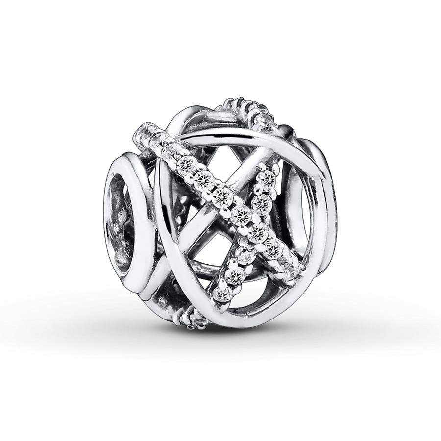 93a5a6cf1 PANDORA Charm Clear CZ Galaxy Sterling Silver - 801954405 - Jared