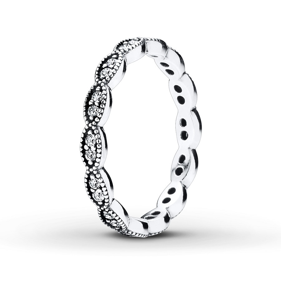 2d55af3d4 Pandora Ring Cz Leaf Sterling Silver 80196360699 Jared