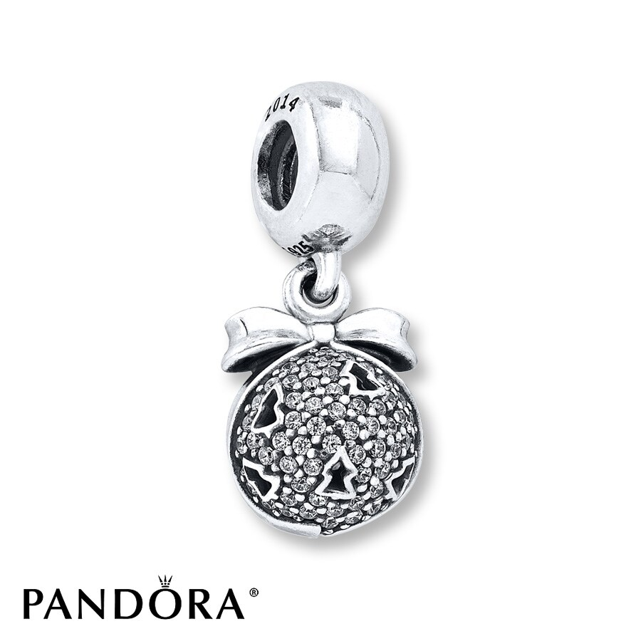 Jared PANDORA Dangle Charm Christmas Wish Sterling Silver