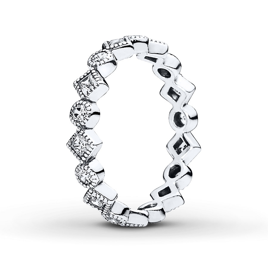 jared pandora ring brilliant princess sterling silver