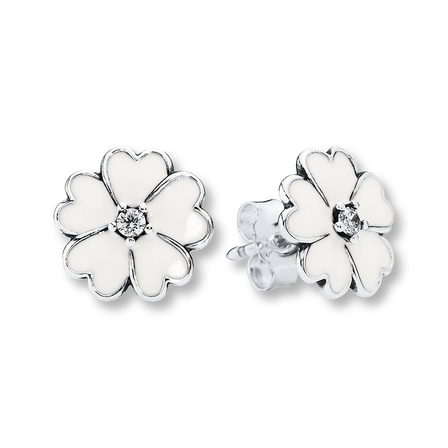 Pandora Earrings Silver: PANDORA Earrings Primrose Sterling Silver