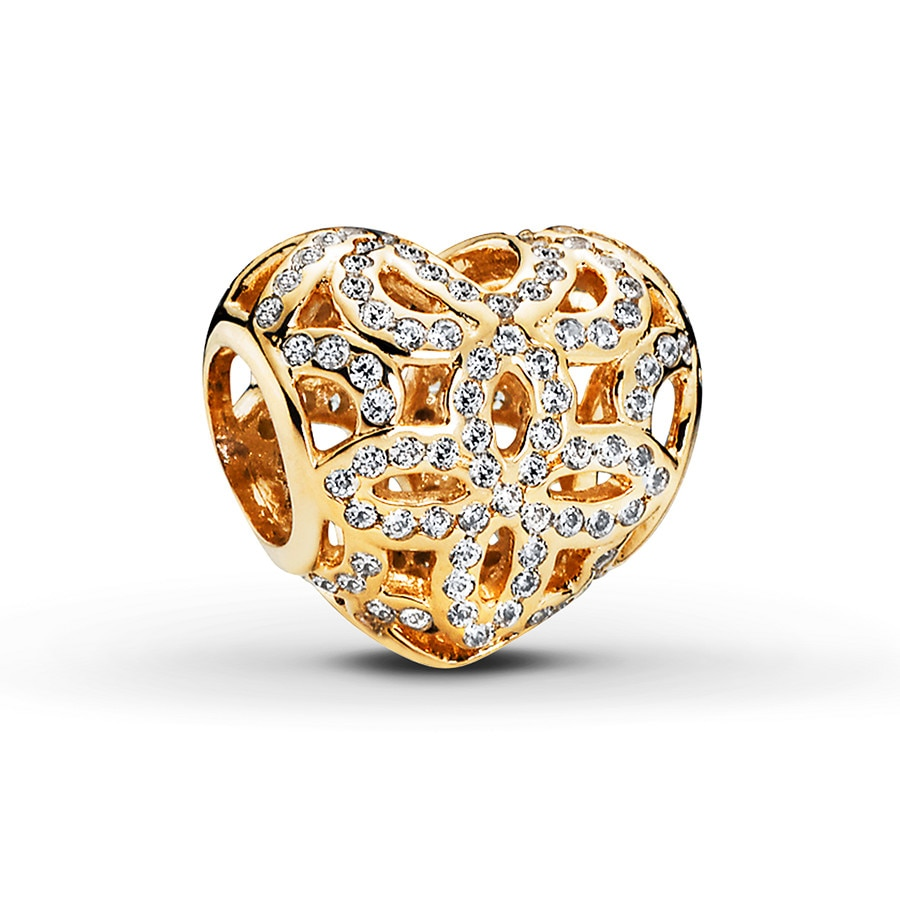 Pandora Charm Love Amp Appreciation 14k Yellow Gold