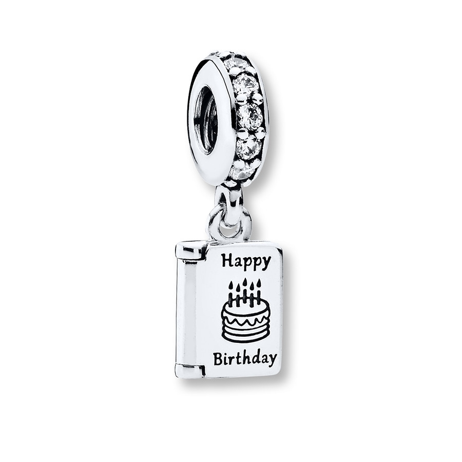 PANDORA Dangle Charm Birthday Wishes Sterling Silver