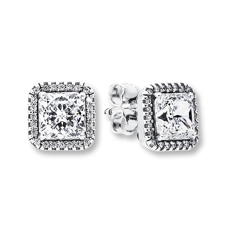 93d8326639fbf PANDORA Earrings Timeless Elegance Sterling Silver
