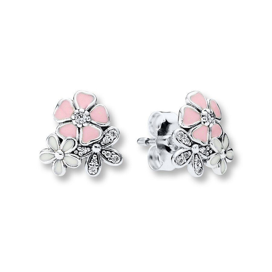 d67a1c019 PANDORA Earrings Poetic Blooms Sterling Silver. Clearance Stock #802147001  Write A Review. Tap to expand