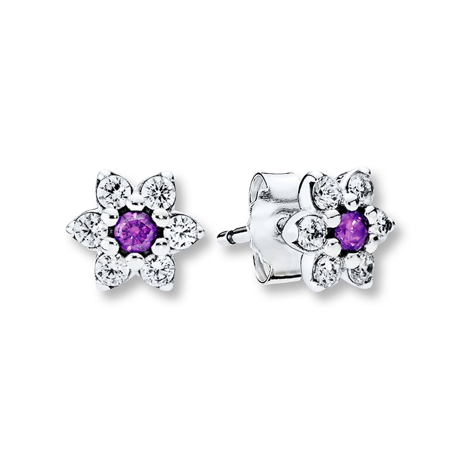 Pandora Earrings Silver: PANDORA Earrings Forget-Me-Not Sterling Silver
