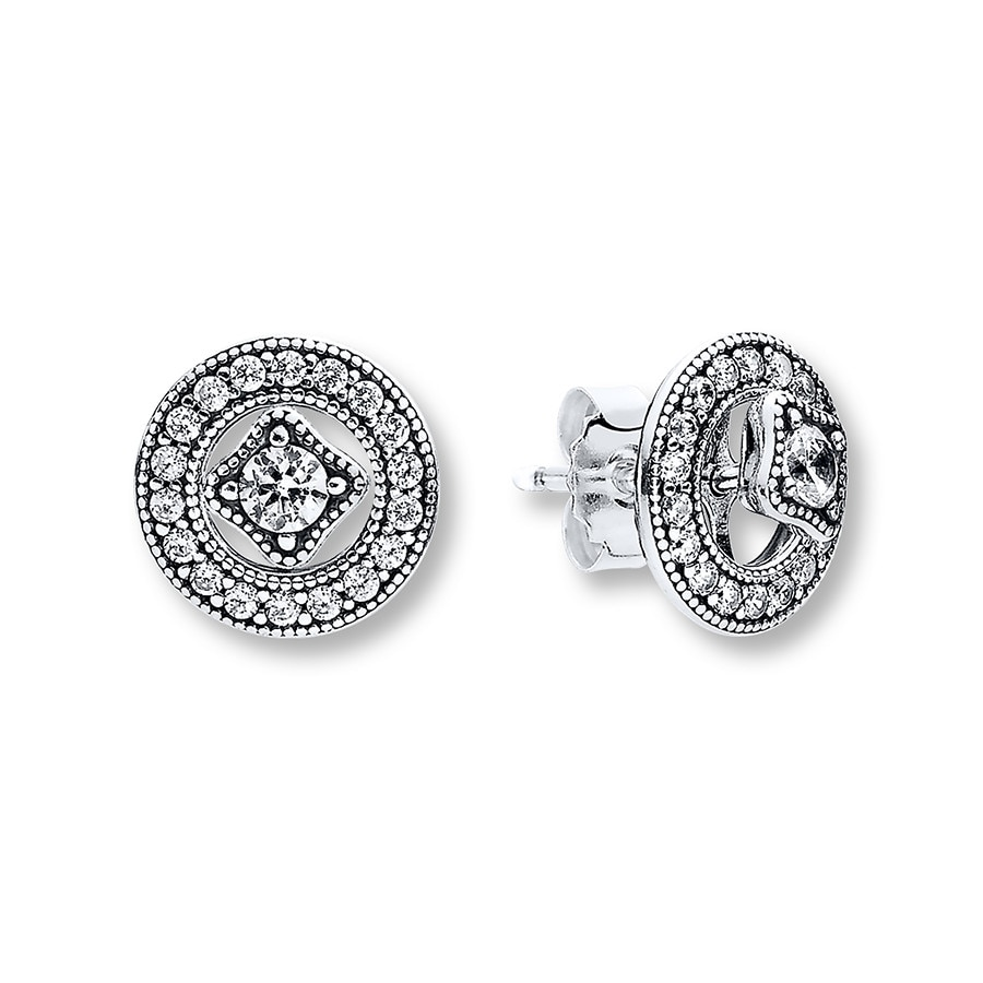 Pandora Earrings Silver: PANDORA Earrings Vintage Allure Sterling Silver
