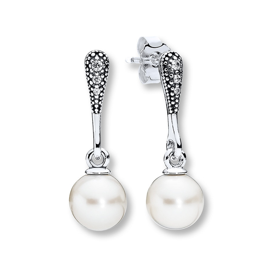 Pandora Earrings Silver: PANDORA Drop Earrings Elegant Beauty Sterling Silver