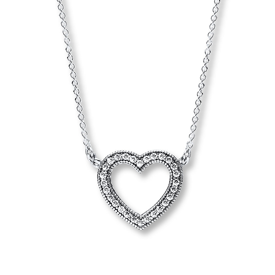 pandora 17 7 necklace loving hearts sterling silver. Black Bedroom Furniture Sets. Home Design Ideas