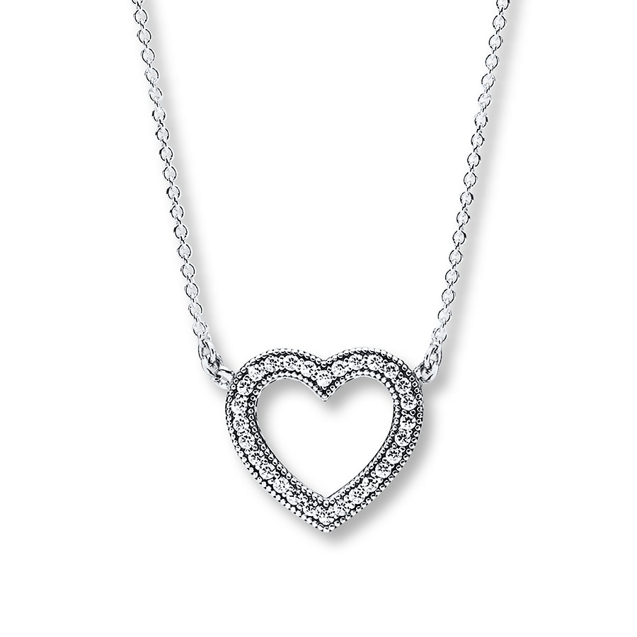 jared pandora 17 7 necklace loving hearts sterling silver
