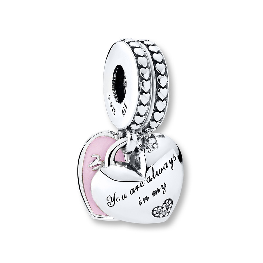 6922e86d3 PANDORA Charm Mother & Daughter Hearts Sterling Silver - 802250605 ...