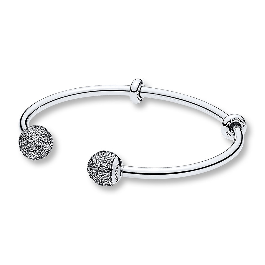 bangles bracelet circle cubic in silver bangle with zirconia open sterling