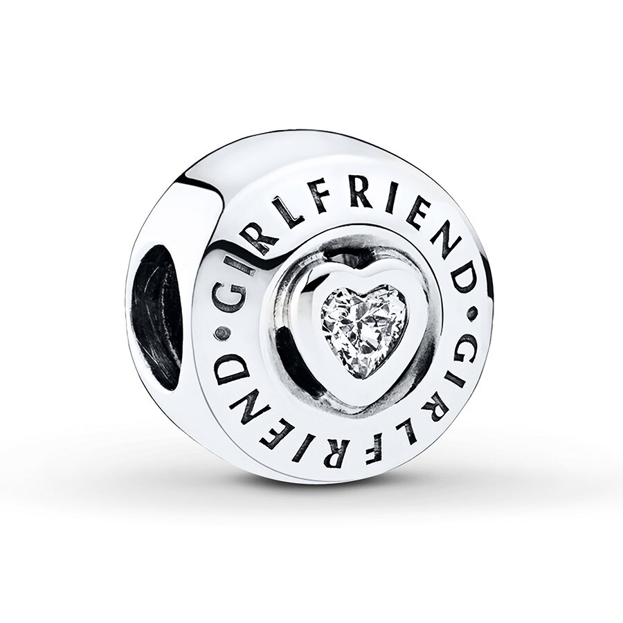 35be9238eecba PANDORA Charm Girlfriend Sterling Silver