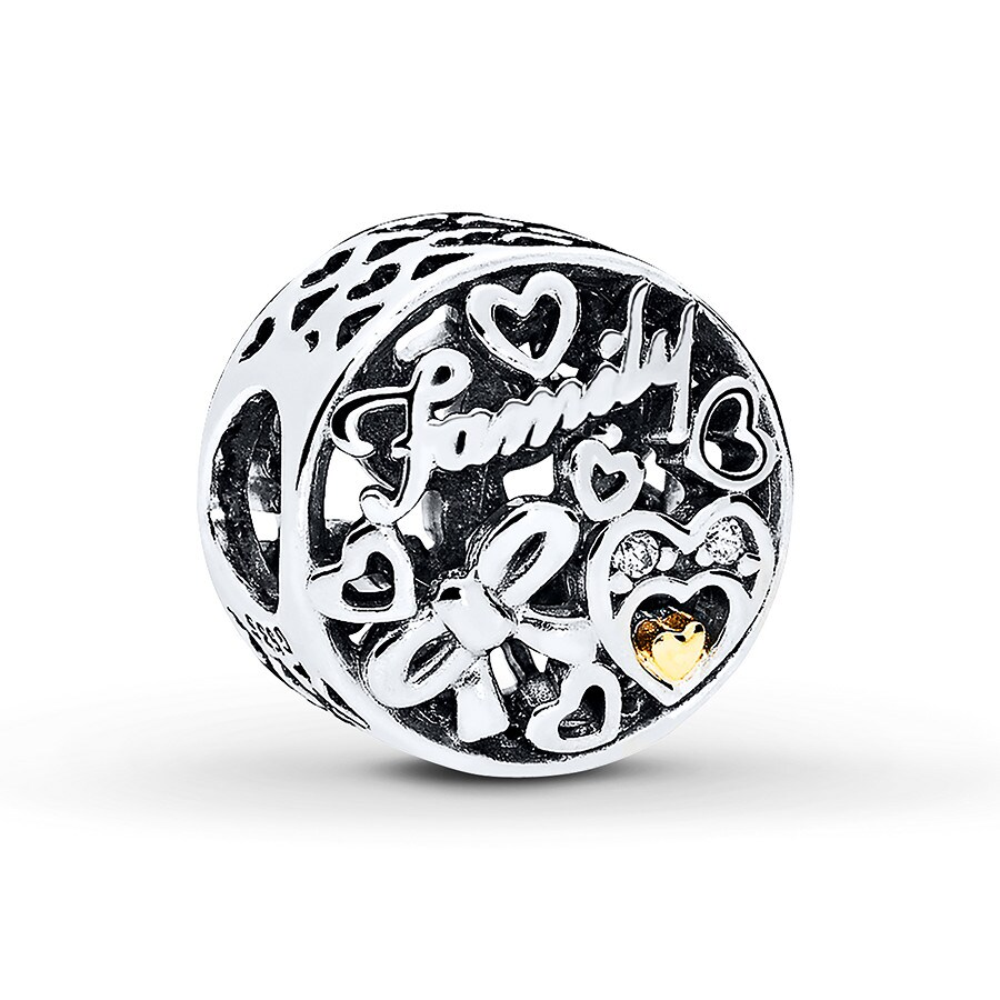 91adf3c0f PANDORA Charm Family Tribute Sterling Silver/14K Gold - 802295903 ...