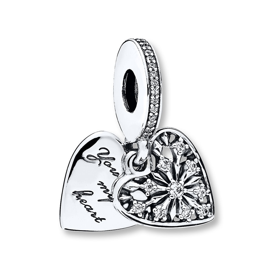 9a83e0457 PANDORA Dangle Charm Heart of Winter Sterling Silver - 802310300 - Jared
