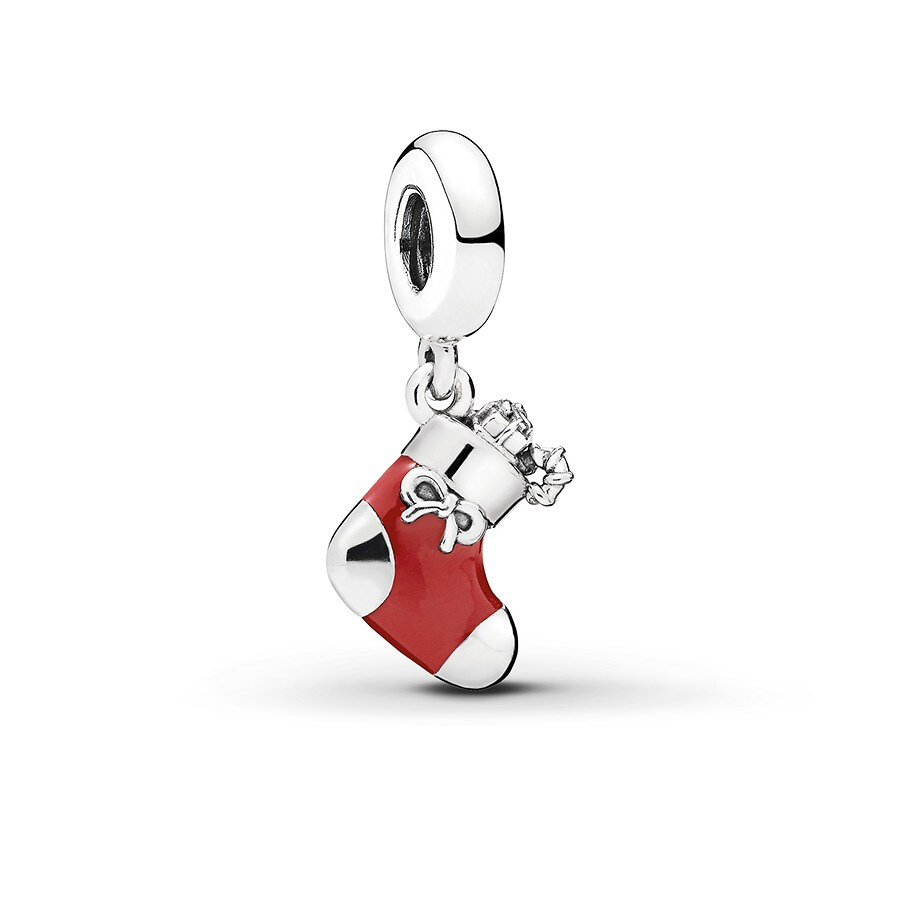 f52b78e76 PANDORA Dangle Charm Festive Stocking Sterling Silver - 802334502 ...