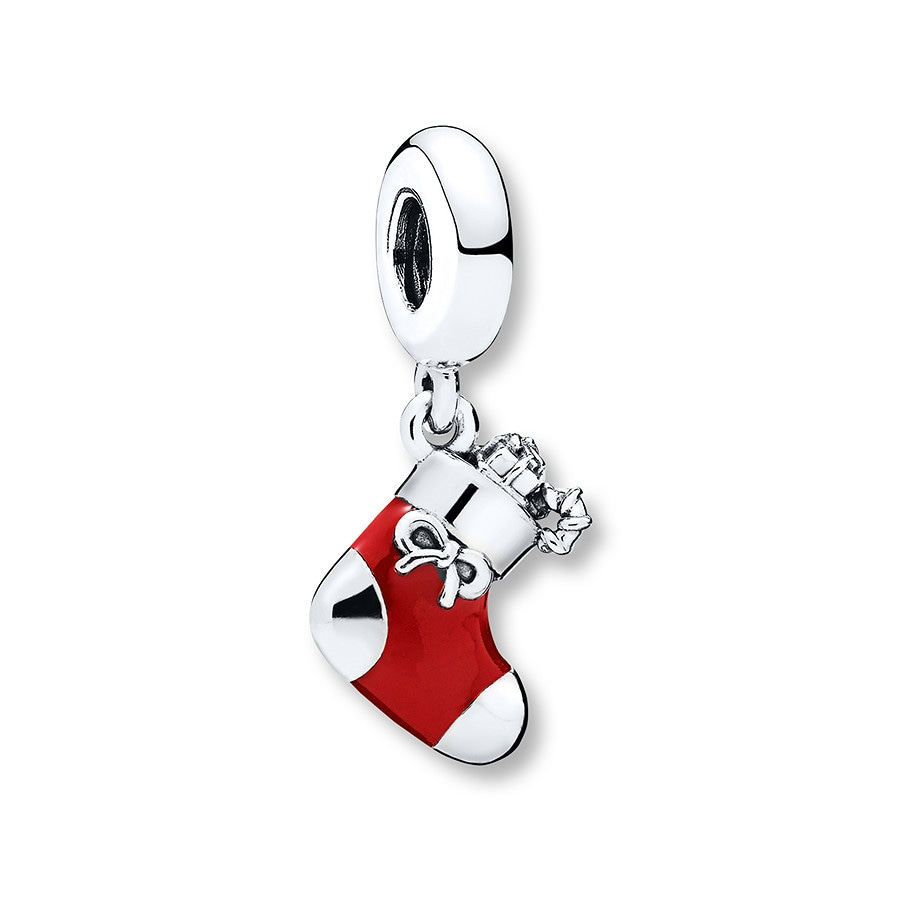 Jared PANDORA 2017 Engraved Christmas Stocking Limited Edition Charm