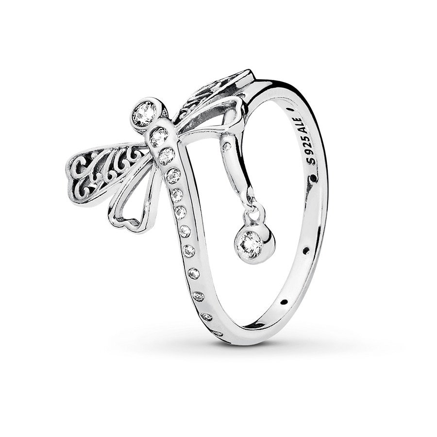 0837c63bc ... real pandora ring dreamy dragonfly sterling silver a66e7 9874e ...