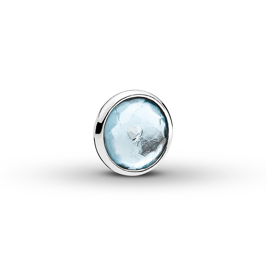 3c6371107 PANDORA Petite Locket Charm March Droplet Sterling Silver ...