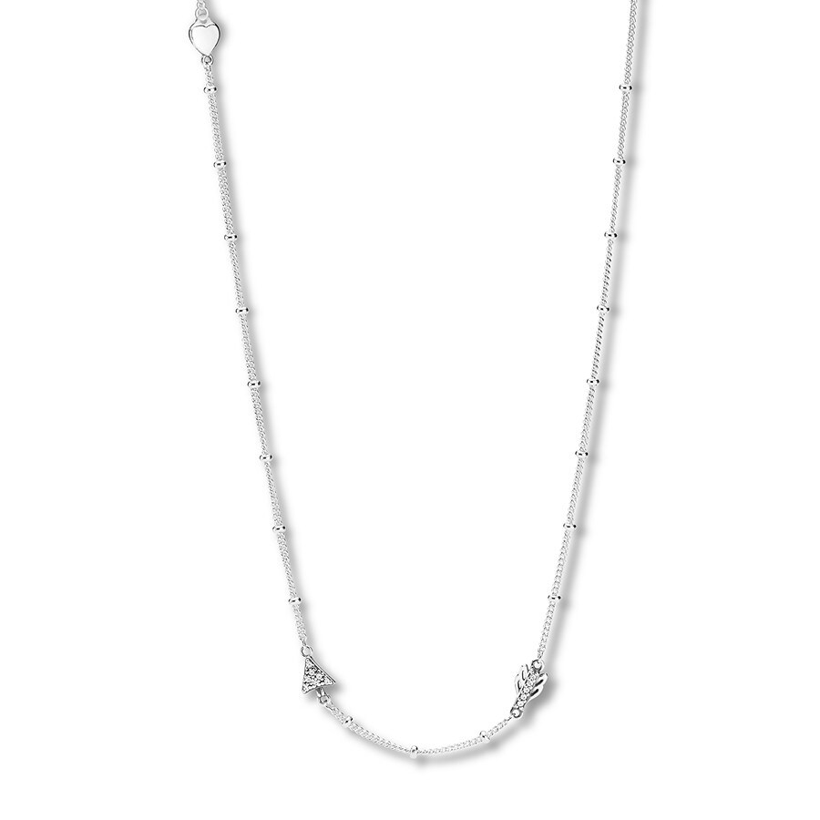 "3a590ac59 PANDORA 23.6"" Necklace Sparkling Arrow Sterling Silver. Stock #802481301  Write A Review. Tap to expand"