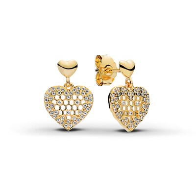 Pandora Shine Earrings Sterling Silver/18K Yellow Gold-Plated