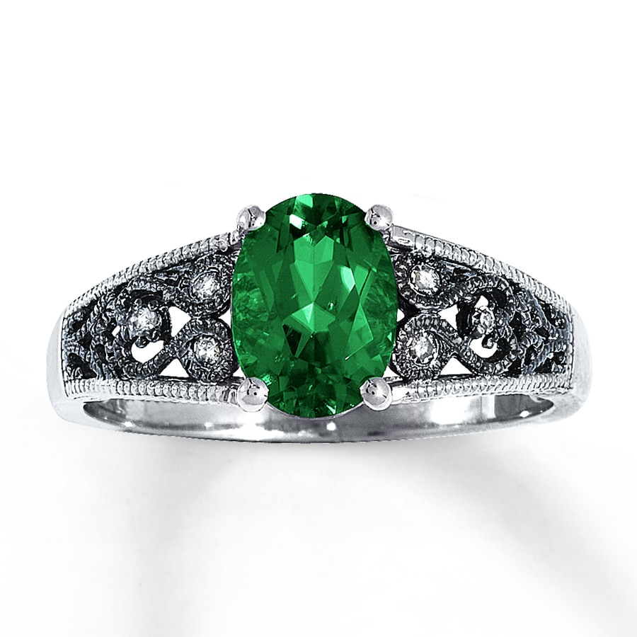 sapphires created zm hover grown ring to zoom en lab kaystore emerald silver kay mv sterling