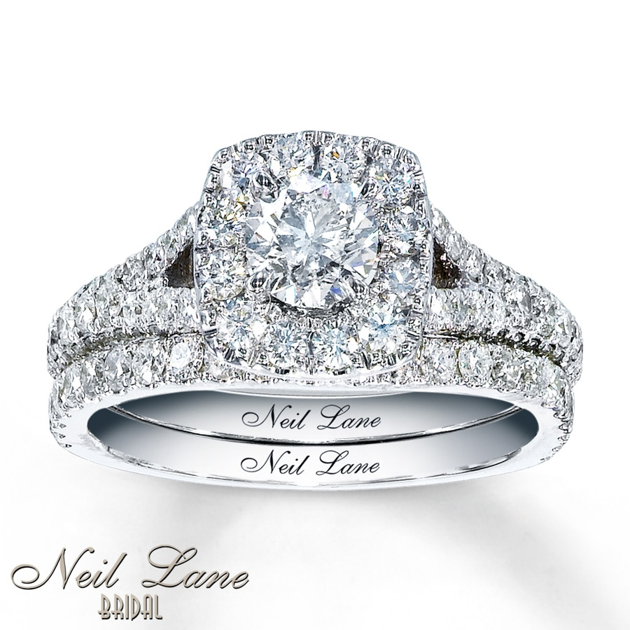 jared - neil lane bridal 1 7/8 ct tw diamonds 14k white gold