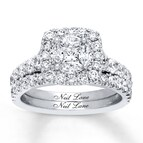 Neil Lane Bridal Set 2 1/6 ct tw Diamonds 14K White Gold