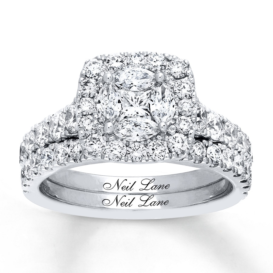 lane neil gold white engagement diamond diamonds ct ring tw