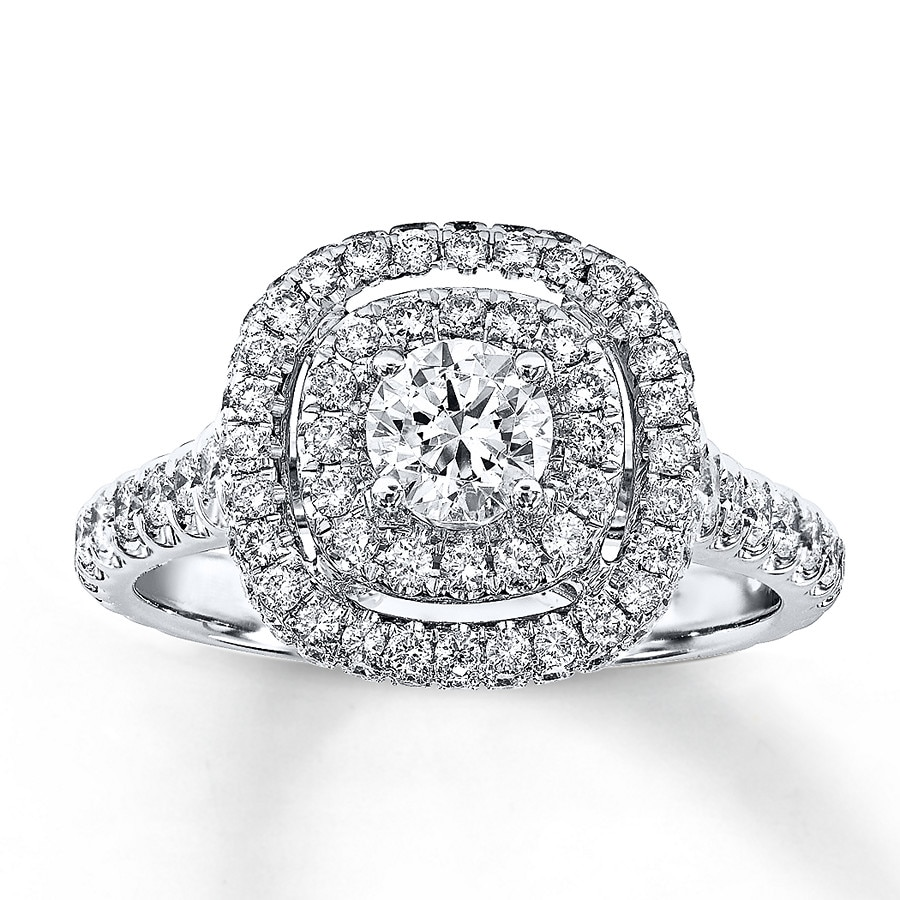 Jared Neil Lane Bridal Ring 1 1 5 ct tw Diamonds 14K White Gold