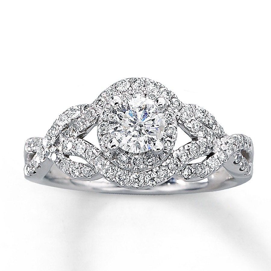 round diamondstud wedding halo diamond rings engagement circle