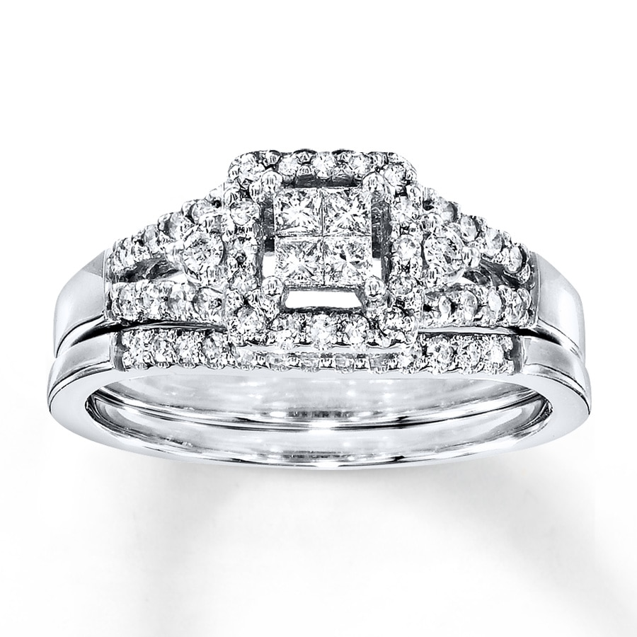 418fcbd32 Diamond Bridal Set 1/3 ct tw Princess-cut 10K White Gold. Clearance Stock  #990813507 Read Reviews (6). Hover to zoom