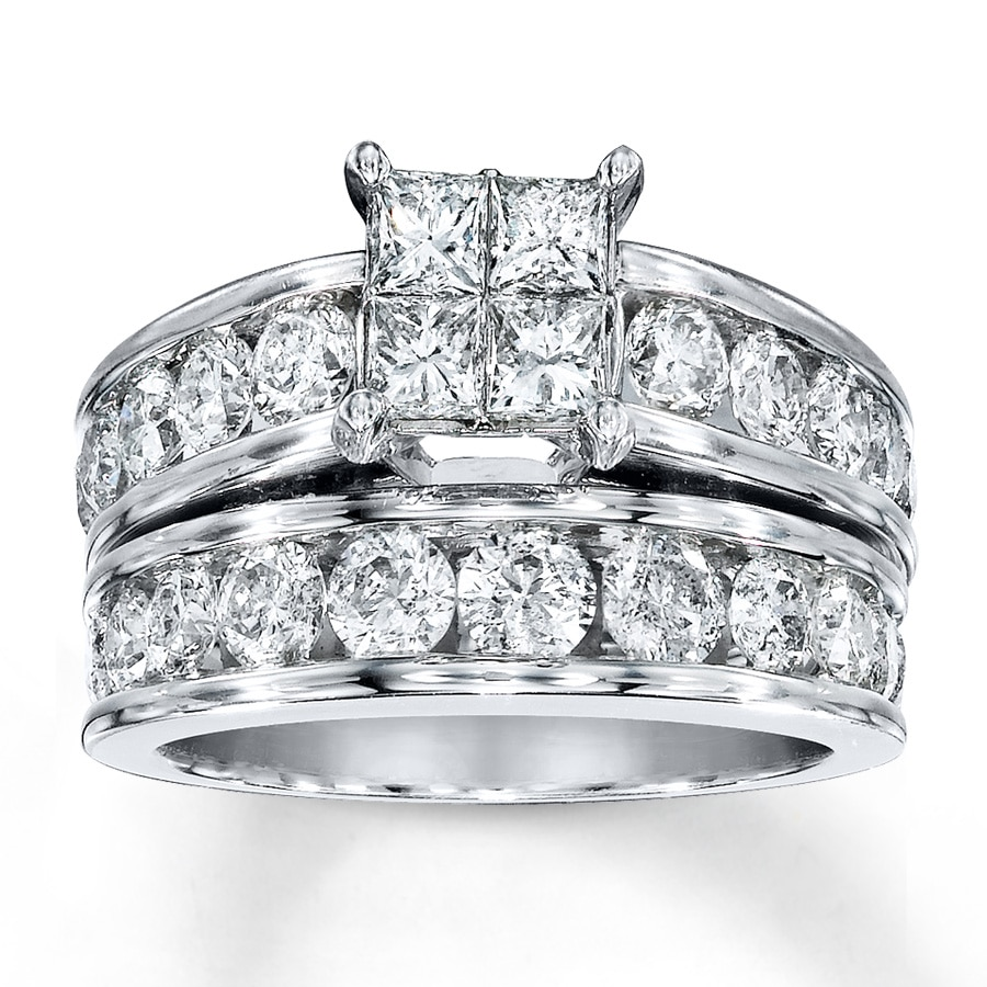 Diamond Bridal Set 3 Cttw Princess-cut/Round 14K