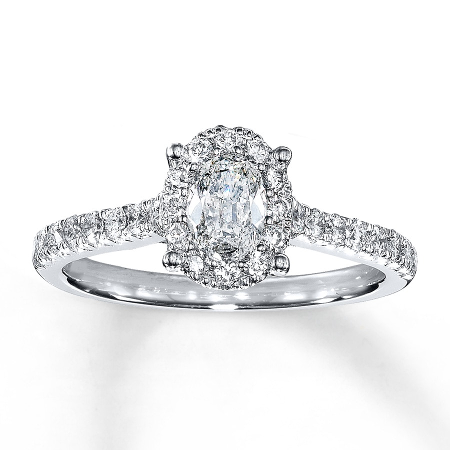 cushion halo g diamond h ring gold white rings engagement