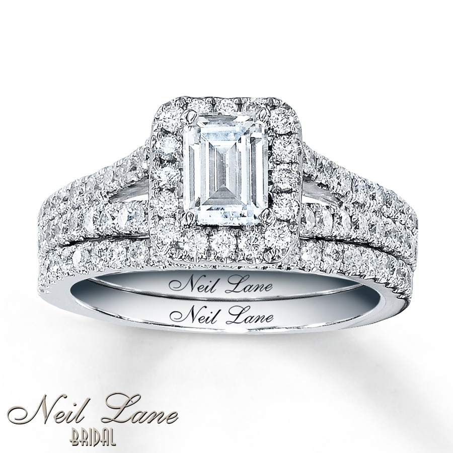 jared - neil lane bridal 1-5/8 ct tw diamonds 14k white gold