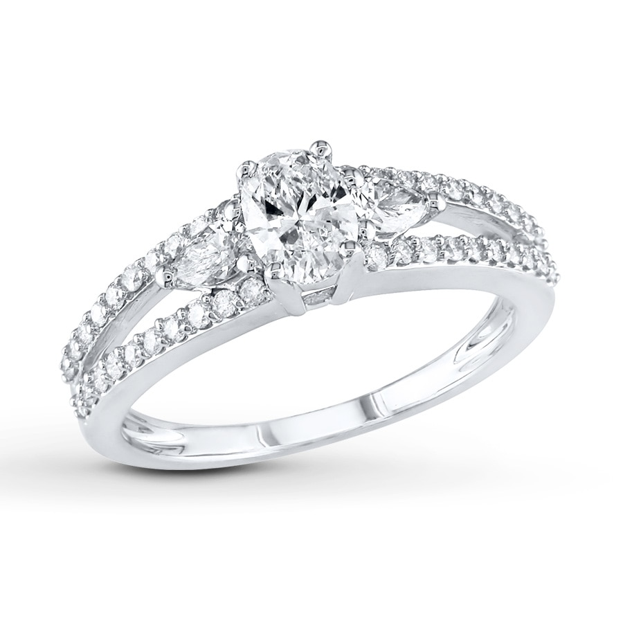jared engagement ring 1 carat tw 14k white gold
