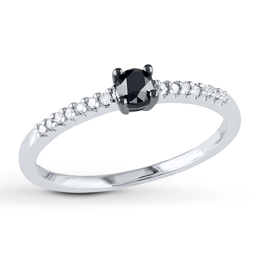 Jared - Diamond Engagement ring 1/4 ct tw Black/White 10K ...