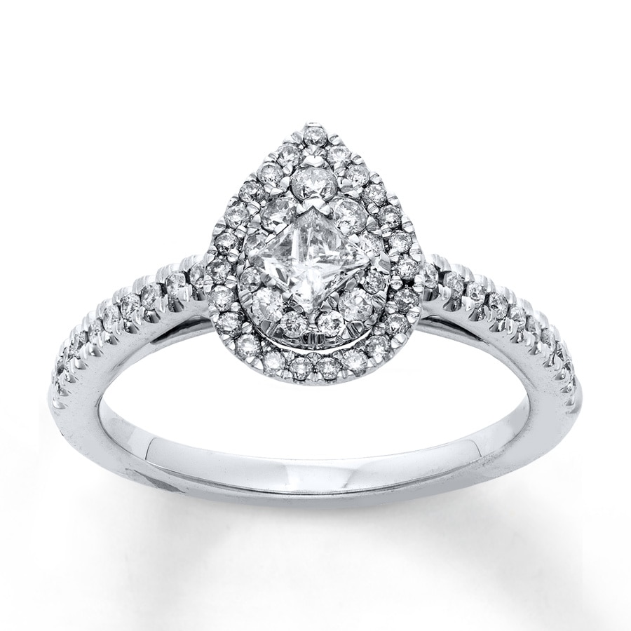 Jared Diamond Engagement Ring 5 8 Carat tw 14K White Gold