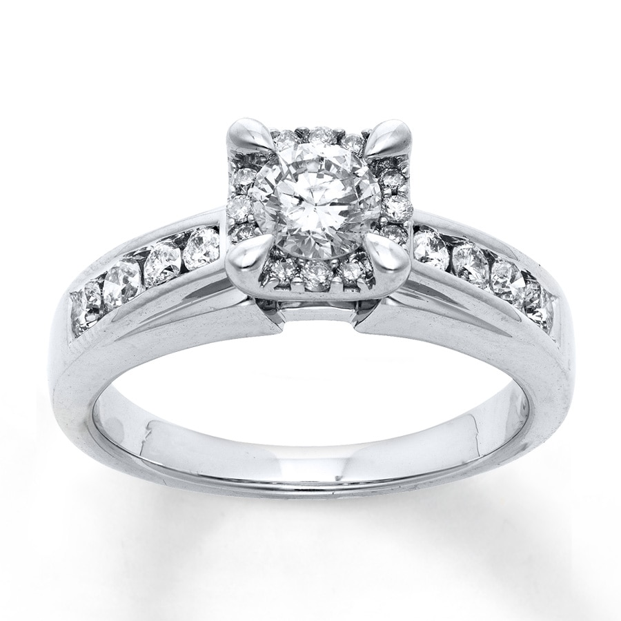 Jared Diamond Engagement Ring 7 8 ct tw Round cut 14K White Gold