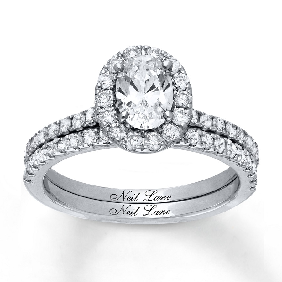 7aeb71763a9951 Neil Lane Bridal Set 1-3/4 ct tw Diamonds 14K White Gold ...