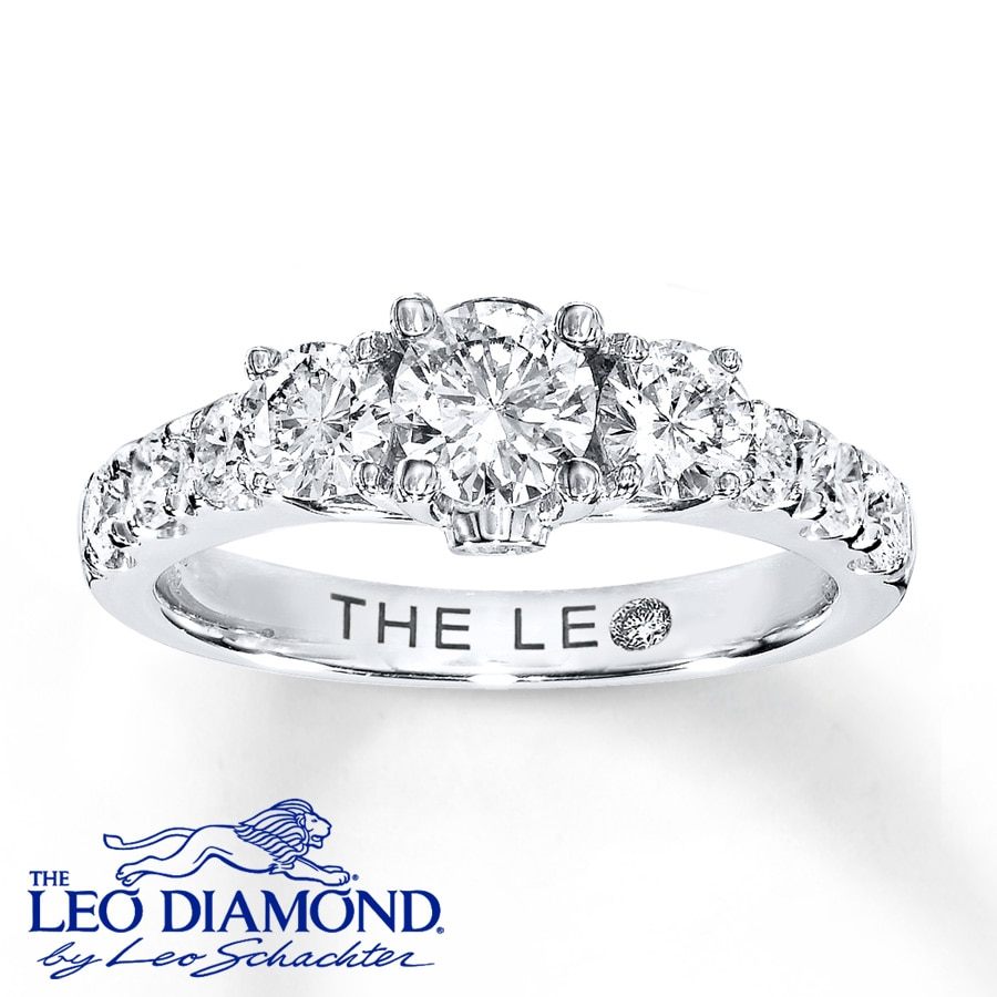 The Leo Diamond Leo Engagement Ring 1 ct tw Diamonds 14K White Gold