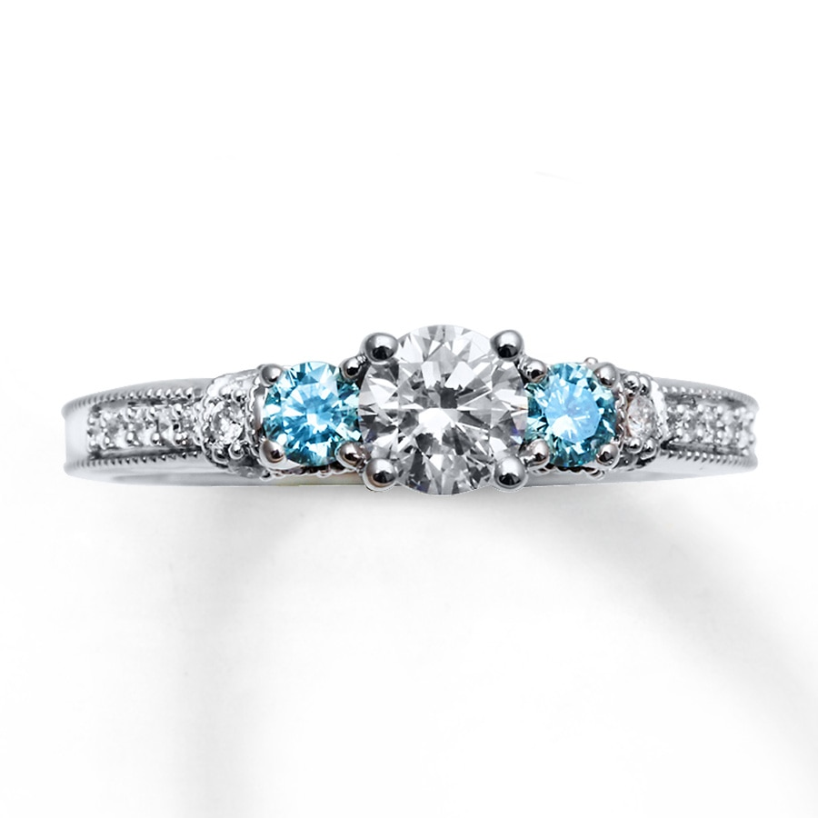 ring cz wedding red women color fashion lingmei rings silver and blue heart size white multicolor dazzling jewelry