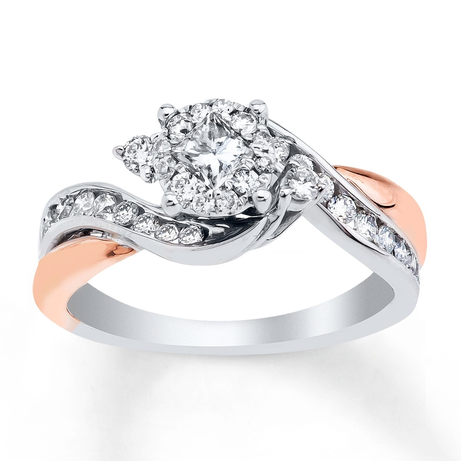 Beautiful rose gold engagement rings jared for Jareds jewelry wedding rings