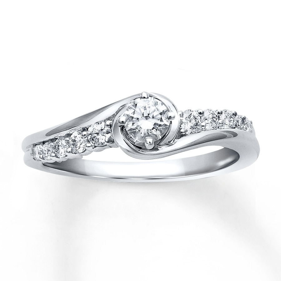 wedding rings 10 k white gold