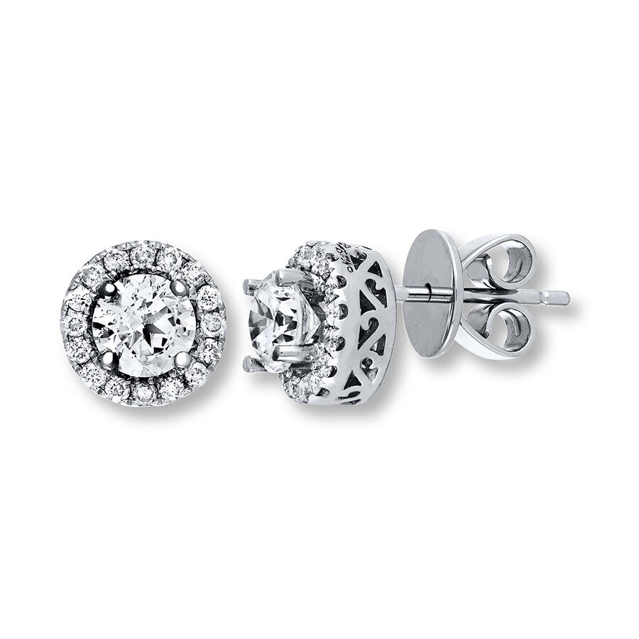 neil earrings jared neil earrings 1 1 4 ct tw diamonds 14k white gold 5277