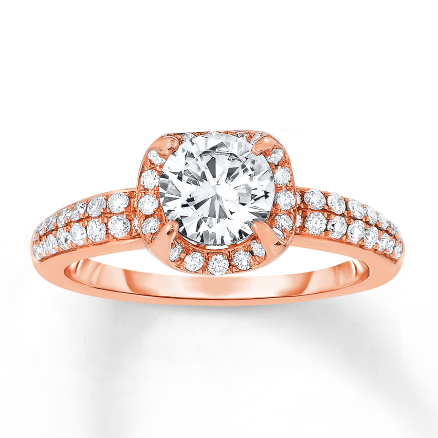 Jared Diamond Engagement Ring 1 ct tw Round cut 14K Rose Gold