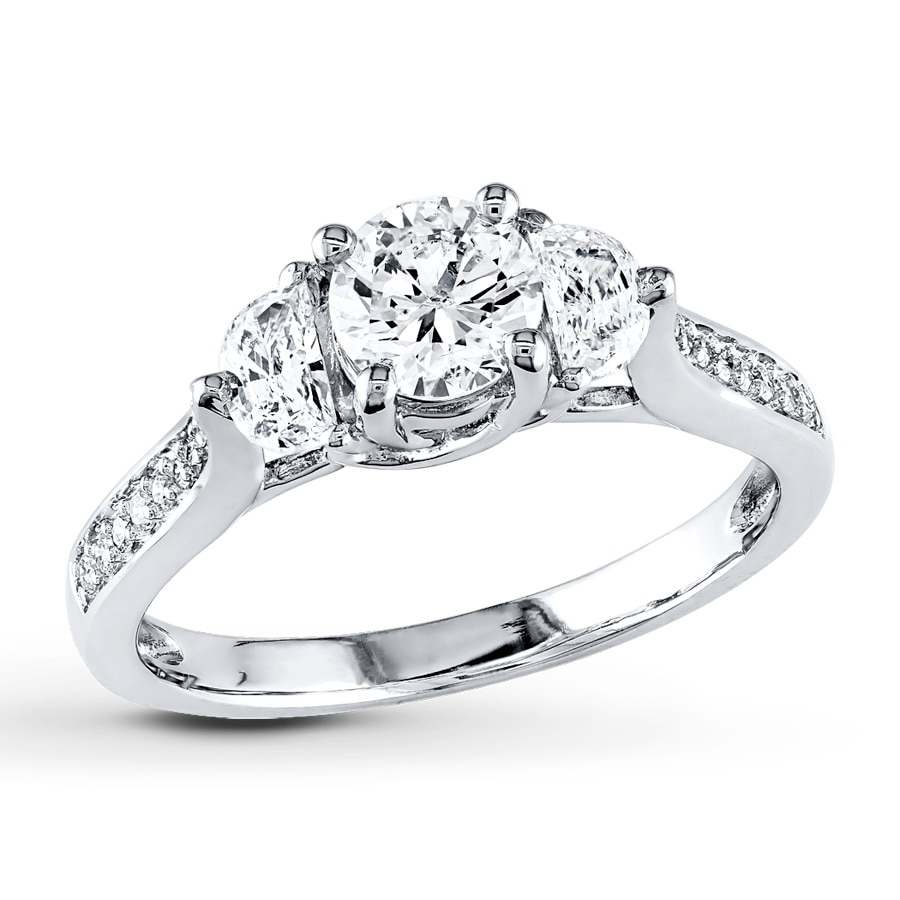 Jared Diamond Engagement Ring 1 ct tw Roundcut 14K White Gold