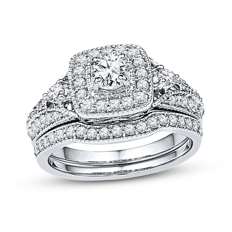 4440e02a2 Diamond Bridal Set 7/8 ct tw Round-cut 14K White Gold - 99146060999 ...