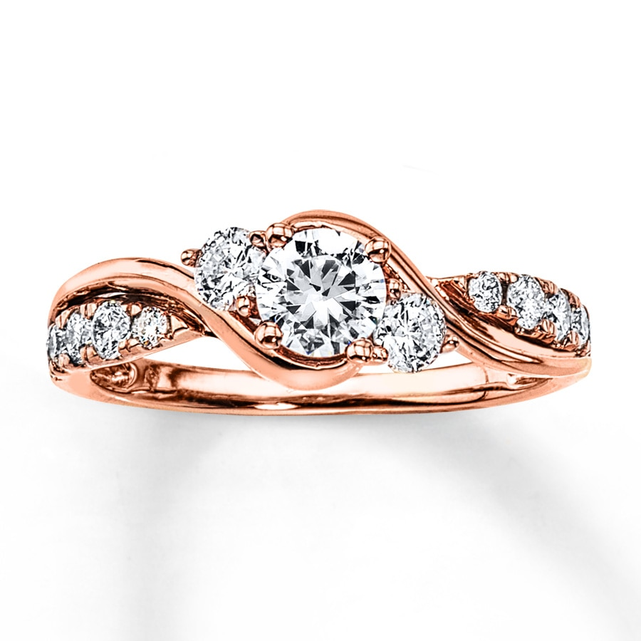 Jared Diamond Engagement Ring 78 ct tw Roundcut 14K Rose Gold